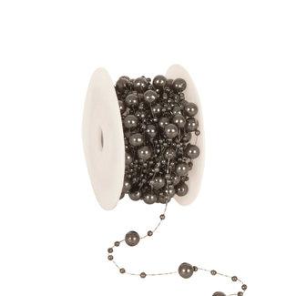 Round Beads Grijs - 8mm x 10m
