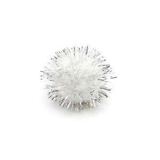 Micro Pompon Zilver 100st