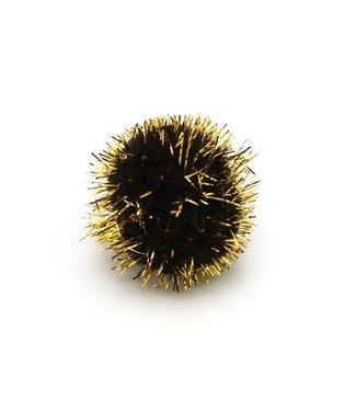 Micro Pompon Zwart 100st