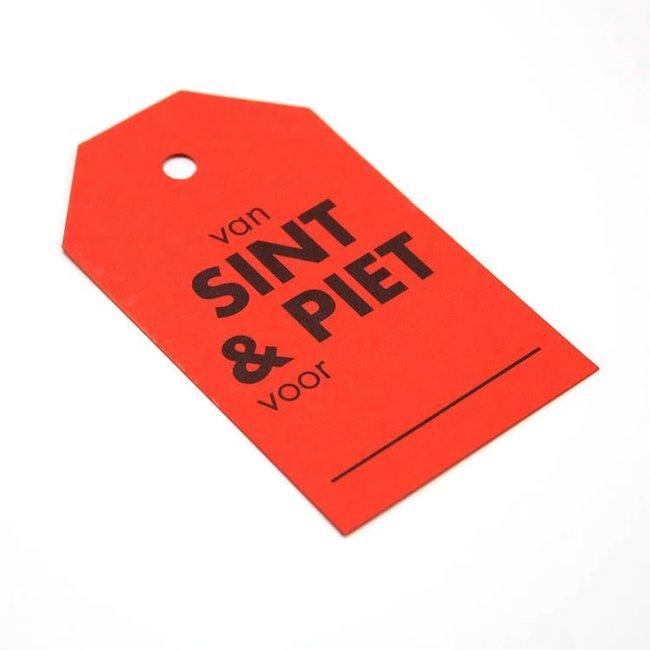 Kadokaartjes Sint & Piet Rood 100st - 6,8cm x 4cm
