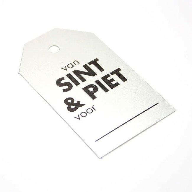 Kadokaartjes Sint & Piet Zilver 100st - 6,8cm x 4cm
