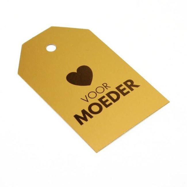 Kadokaartjes Voor Moeder Goud 100st - 6,8cm x 4cm