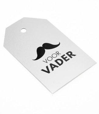 Kadokaartjes Voor Vader Zilver 100st - 6,8cm x 4cm