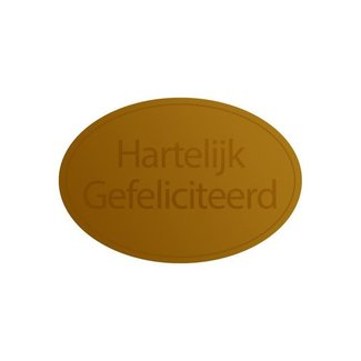 Stickers HG Ovaal Goud 1000st - 38mm x 25mm