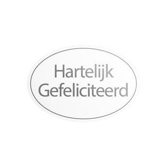 Stickers HG Ovaal Wit 1000st - 38mm x 25mm