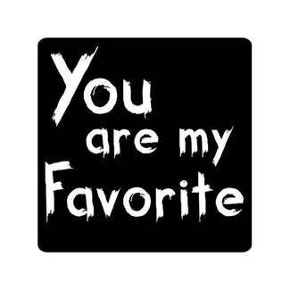 Stickers Schoolbord You Are My Favorite 500st - 45mm x 45mm
