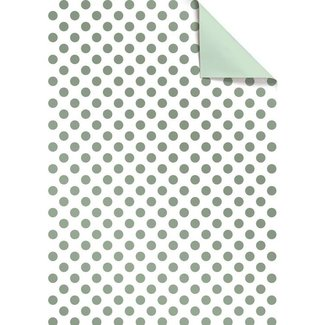 Cadeaupapier Emeli Mint - 30cm x 150m