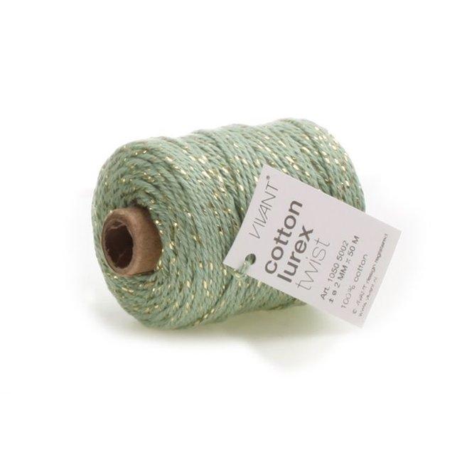 Cotton Lurex Twist Mint - 2mm x 50m