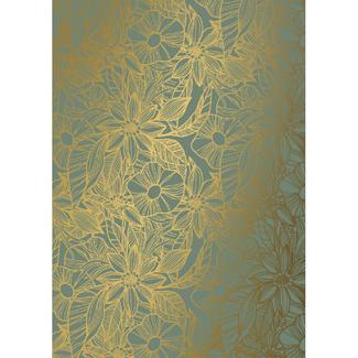 Cadeaupapier Jayden Green Gold - 50cm x 200m