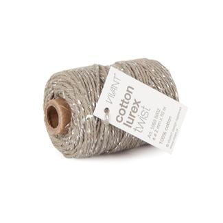 Cotton Lurex Twist Grijs - 2mm x 50m