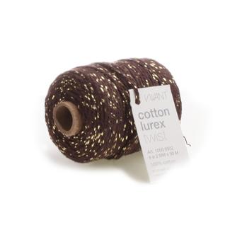 Cotton Lurex Twist Bruin - 2mm x 50m