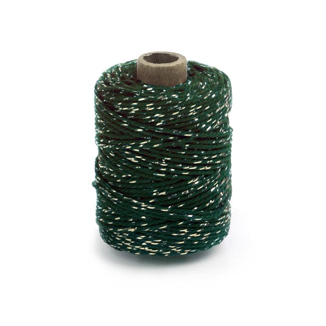 Cotton Lurex Twist Groen - 2mm x 50m