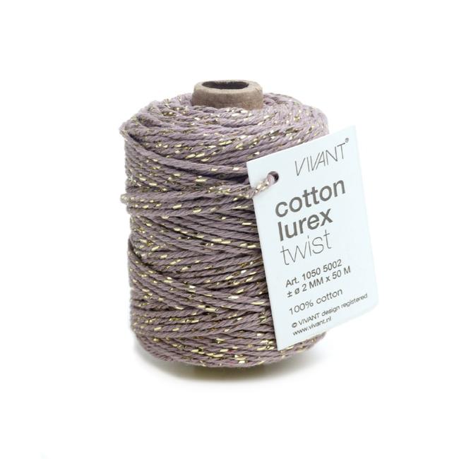 Cotton Lurex Twist Lila - 2mm x 50m