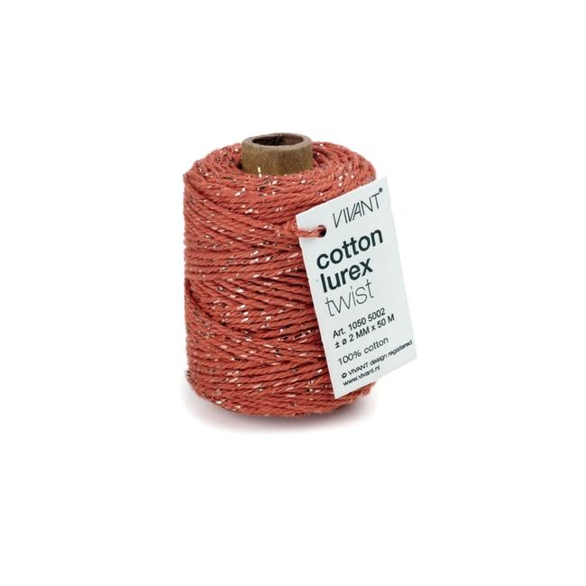 Cotton Lurex Twist Cantaloupe - 2mm x 50m