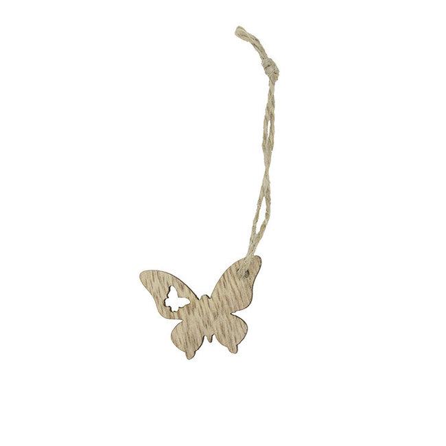 Hanger Butterfly Bruin 24st - 3cm x 3.8cm