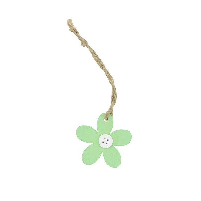 Hanger Flower Knots Groen 24st - 4.5cm