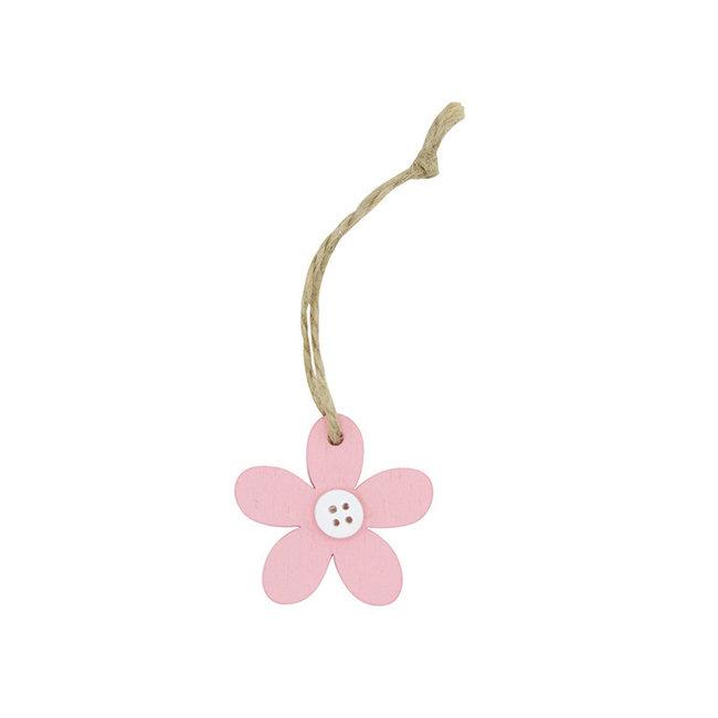 Hanger Flower Knots Roze 24st - 4.5cm