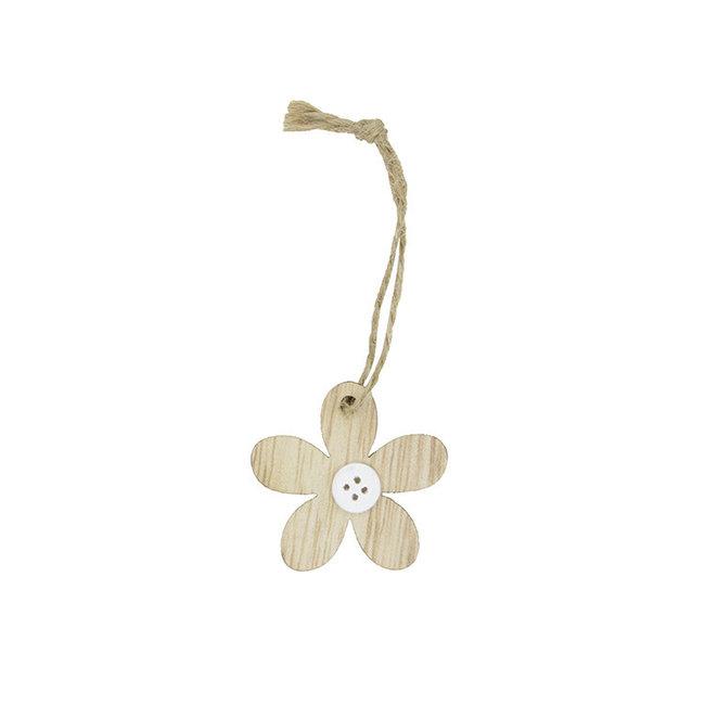 Hanger Flower Knots Bruin 24st - 4.5cm