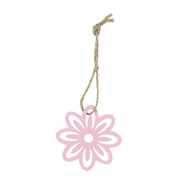 Hanger Flower Roze 24st - 5cm