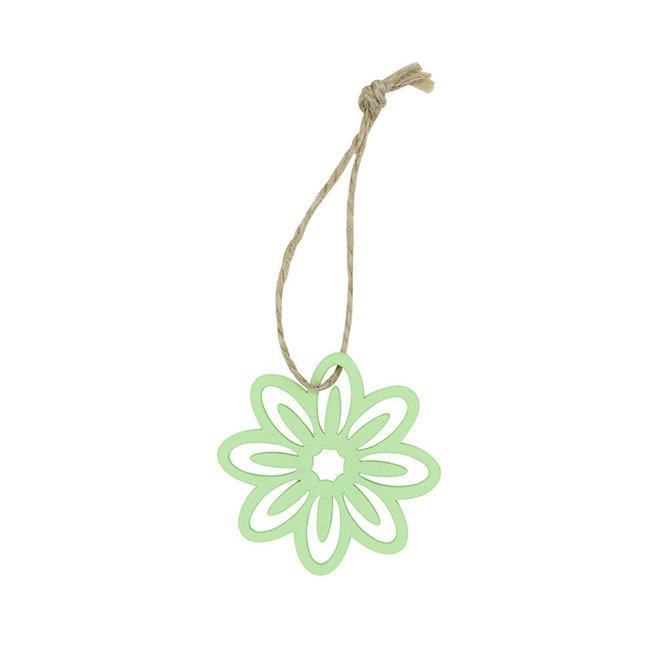 Hanger Flower Groen 24st - 5cm