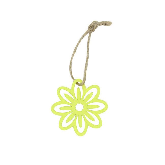Hanger Flower Geel 24st - 5cm