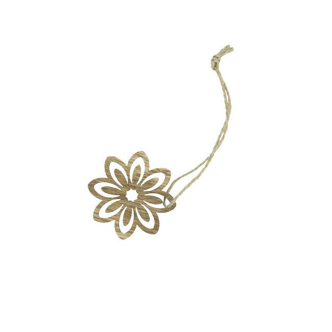 Hanger Flower Bruin 24st - 5cm