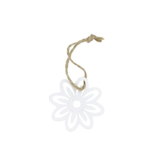 Hanger Flower Wit 24st - 5cm