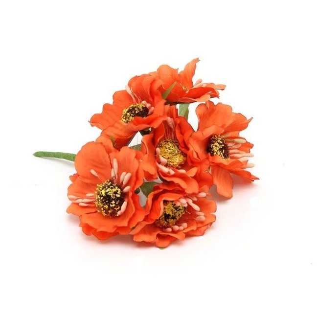 Flowers On Pick Oranje 60st - 45mm x 8.5cm