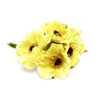 Flowers On Pick Geel 60st - 45mm x 8.5cm