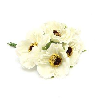 Flowers On Pick Creme 60st - 45mm x 8.5cm