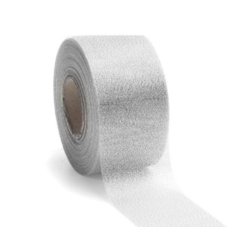 Lucente Ribbon Zilver - 50mm x 25m