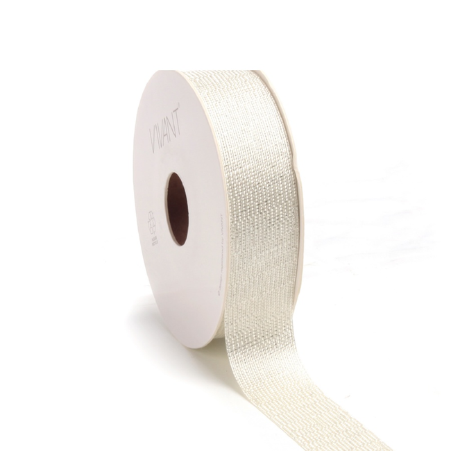 Luster Ribbon Creme - 25mm x 20m
