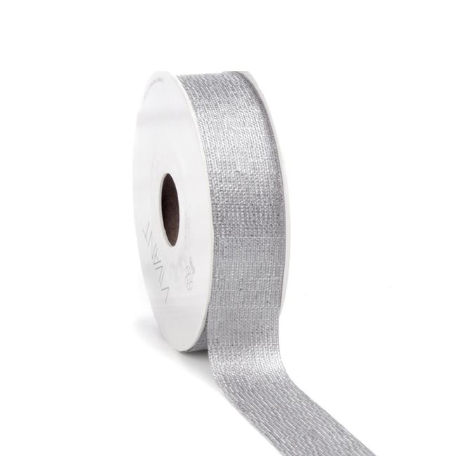 Luster Ribbon Grijs - 25mm x 20m