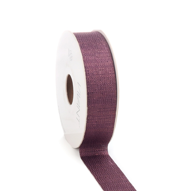 Luster Ribbon Paars - 25mm x 20m