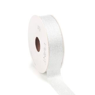 Luster Ribbon Wit - 25mm x 20m