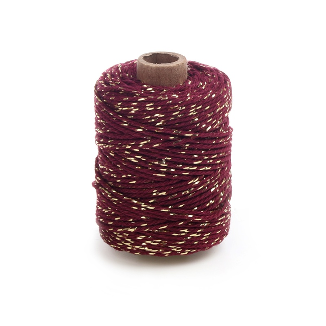 Cotton Lurex Twist Rood - 2mm x 50m