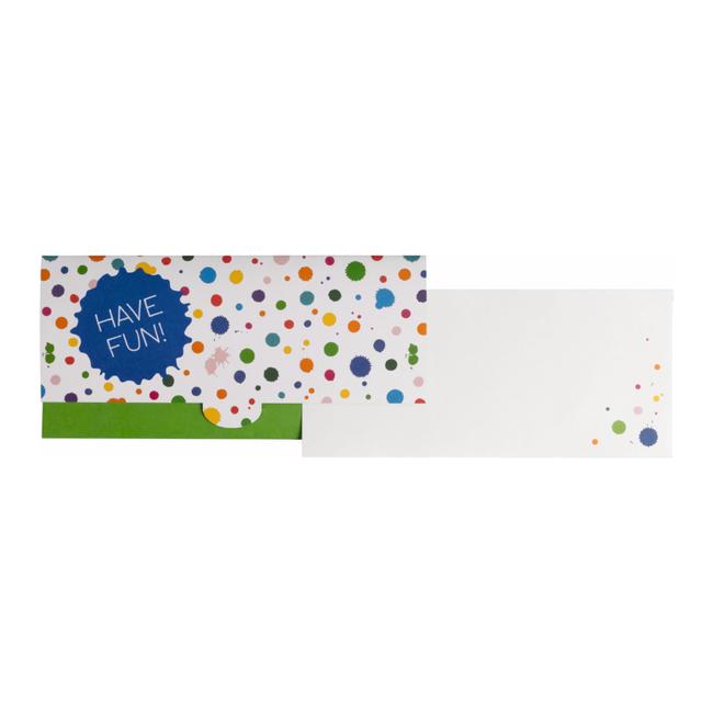 Geschenkkaart Toto Oranje 8st - 11cm x 23cm