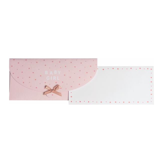 Geschenkkaart Paul+Alda Roze 8st - 11cm x 23cm
