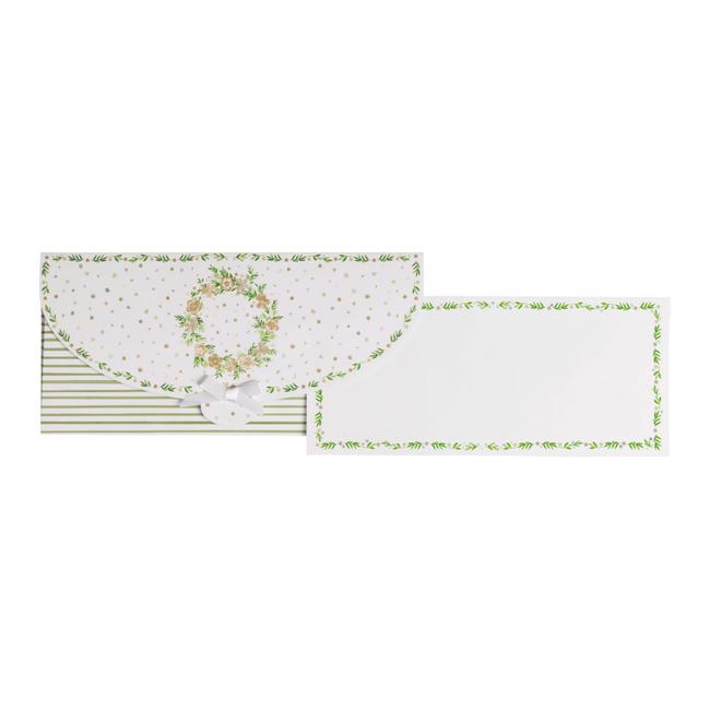 Geschenkkaart Helene Beige 8st - 11cm x 23cm
