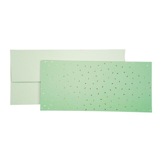 Geschenkkaart Care Mint 8st - 11cm x 23cm