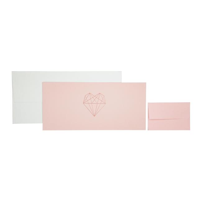 Geschenkkaart Pearl Roze 8st - 11cm x 23cm