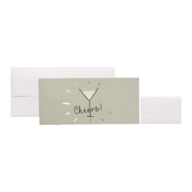 Geschenkkaart Gini Beige 8st - 11cm x 23cm