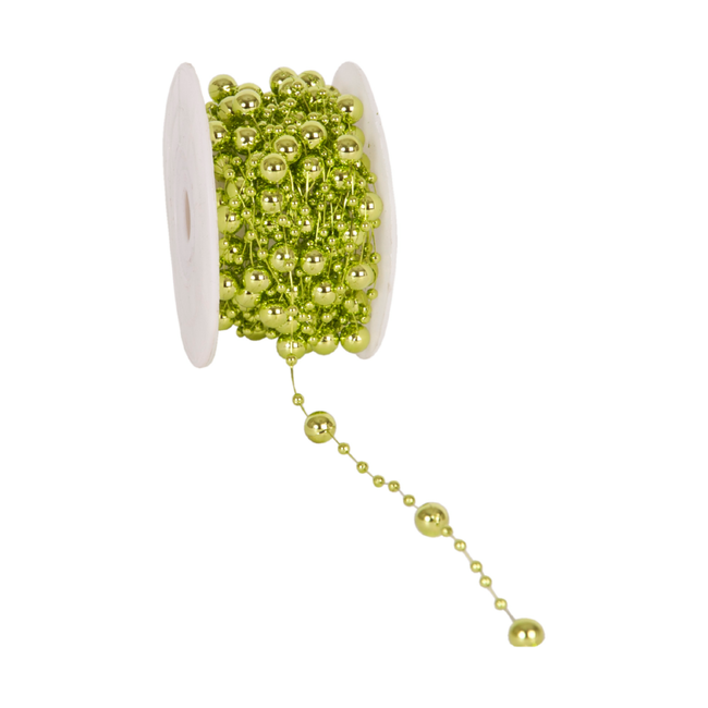 Metalized Round Beads Groen - 8mm x 10m