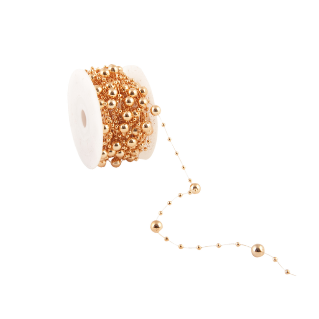 Metalized Round Beads Koper - 8mm x 10m