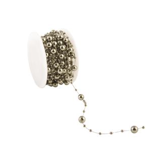 Metalized Round Beads Grijs - 8mm x 10m