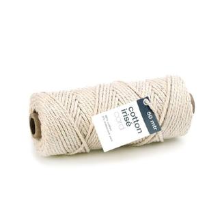 Cotton Irisé Creme - 3mm x 50m