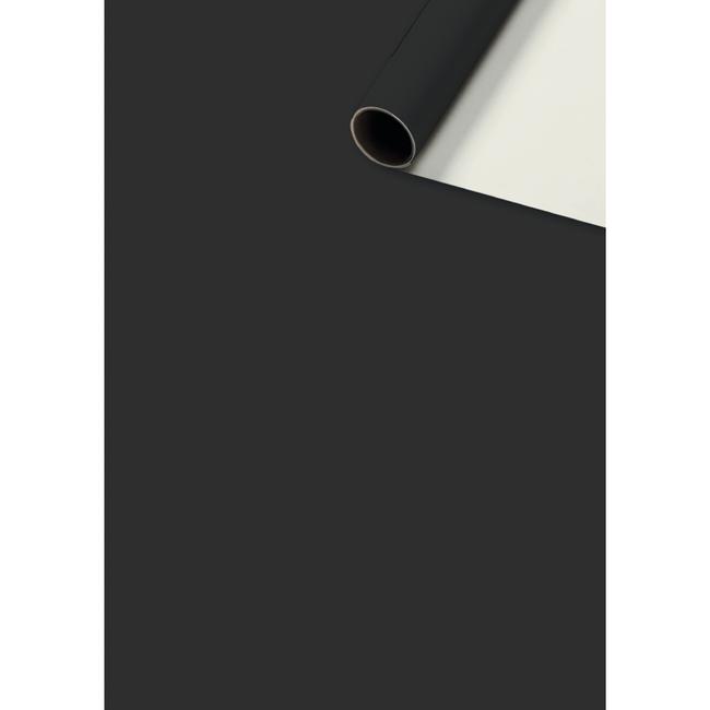 Consumentenrollen Uni Plain Zwart 6st - 70cm x 2m