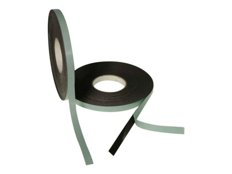 Zelfklevend magneetband 15 mm op rol