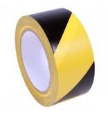 Markierungsband gelb - schwarz 50 mm x 33 mtr