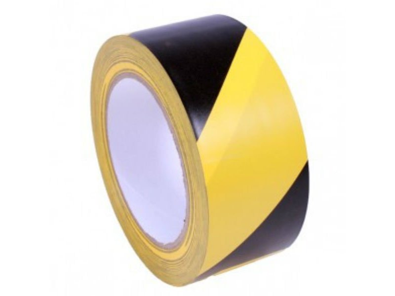Markeringstape Geel - Zwart 50 mm x 33 mtr